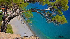 Plage de Agia Fotia. Sud-est de la Crète. Près de Ierapetra