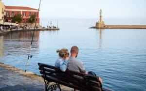 Chania (Hania) en Crète. Le vieux port