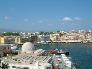 Chania (Hania) en Crète. Vue sur le vieux port