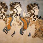 Knossos. Fresque, la parisienne, nom donné par Sir Arthur Evans