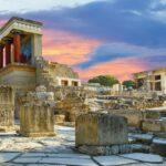 Le site de Knossos. Découvert par Sir Arthur Evans