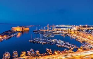 Heraklion, Crète. Son port, la nuit