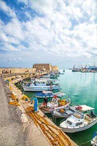 Heraklion, Crète. Vieux port
