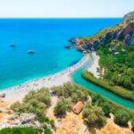Preveli beach. Au sud de Rethymnon