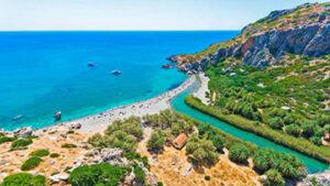 Preveli beach, au sud de Rethymnon